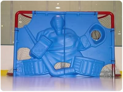 Rick-O-Shay Thermoformed Goal Blocker - Arctic Blue