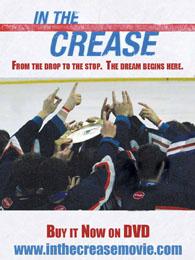 In The Crease Hockey Movie DVD